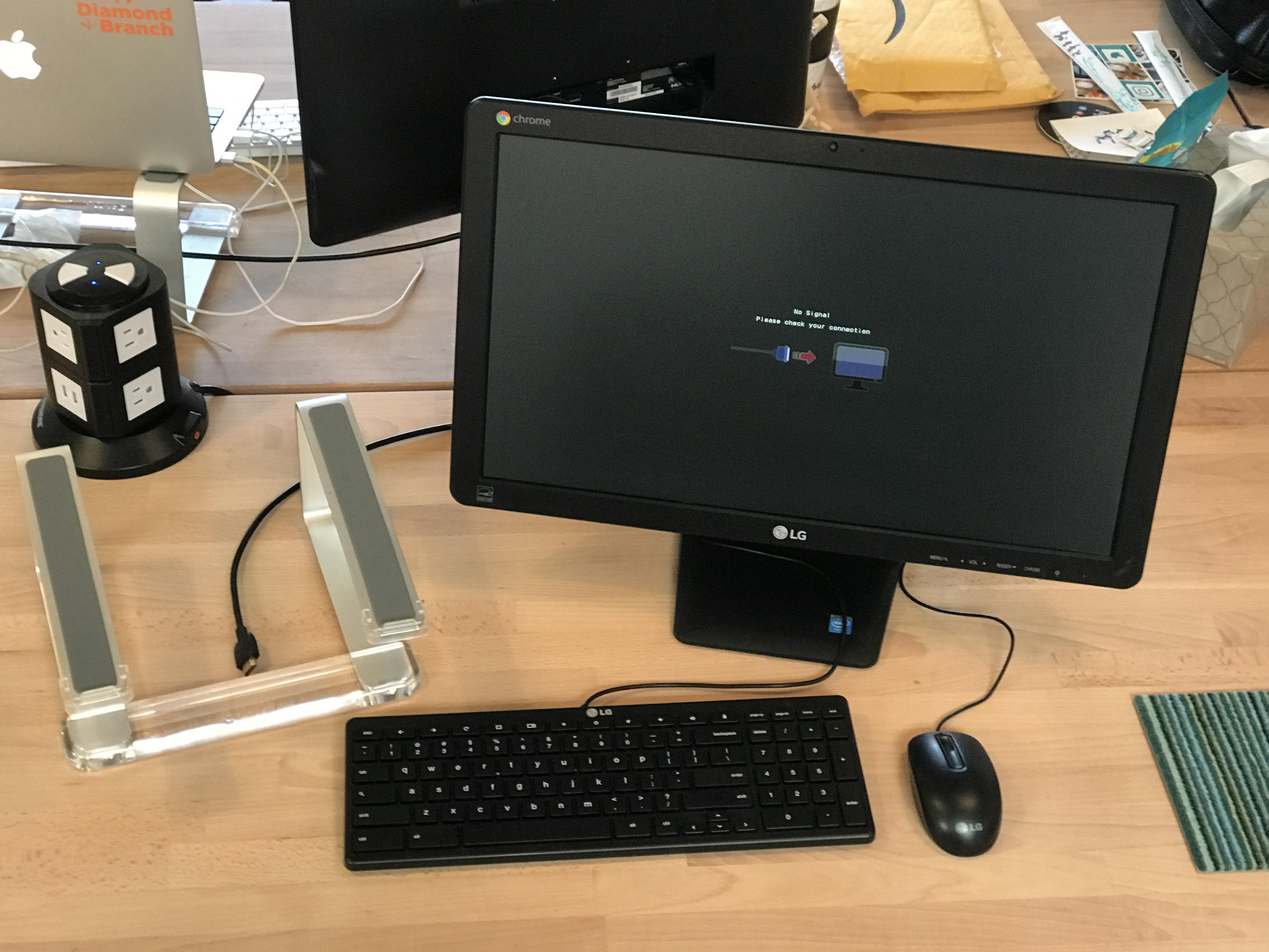 Diamond + Branch Marketing Group - Desk + LG Chrome Monitor