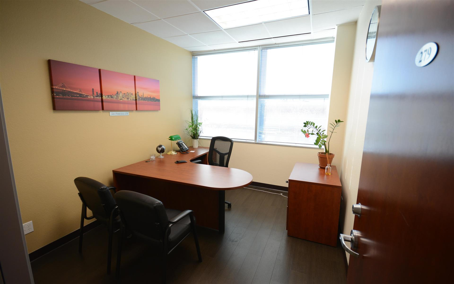 Pleasanton Business Solutions - Private office with window view