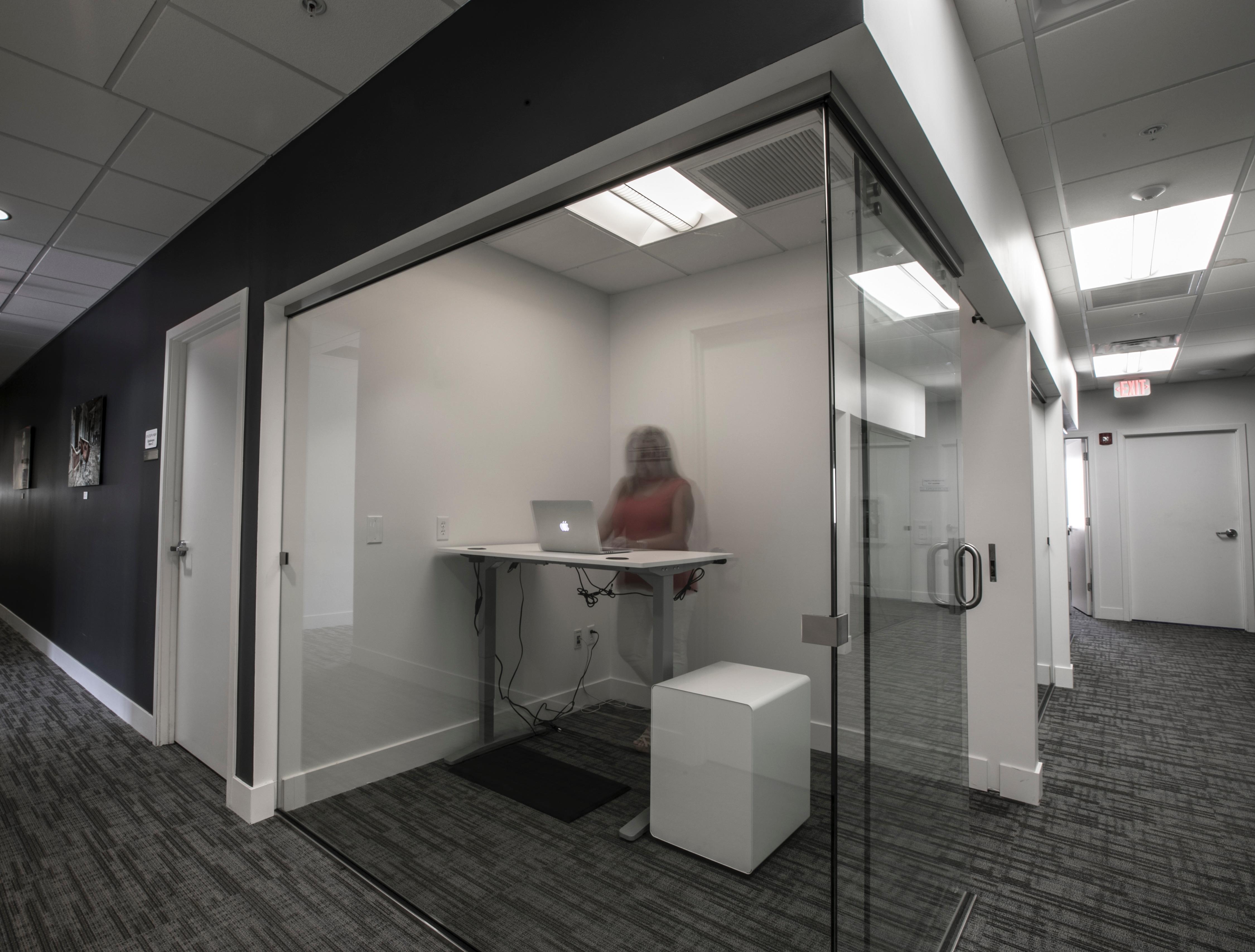 Endeavor Innovative Workspaces - Glass Suite w/ Sliding Glass Barn Door