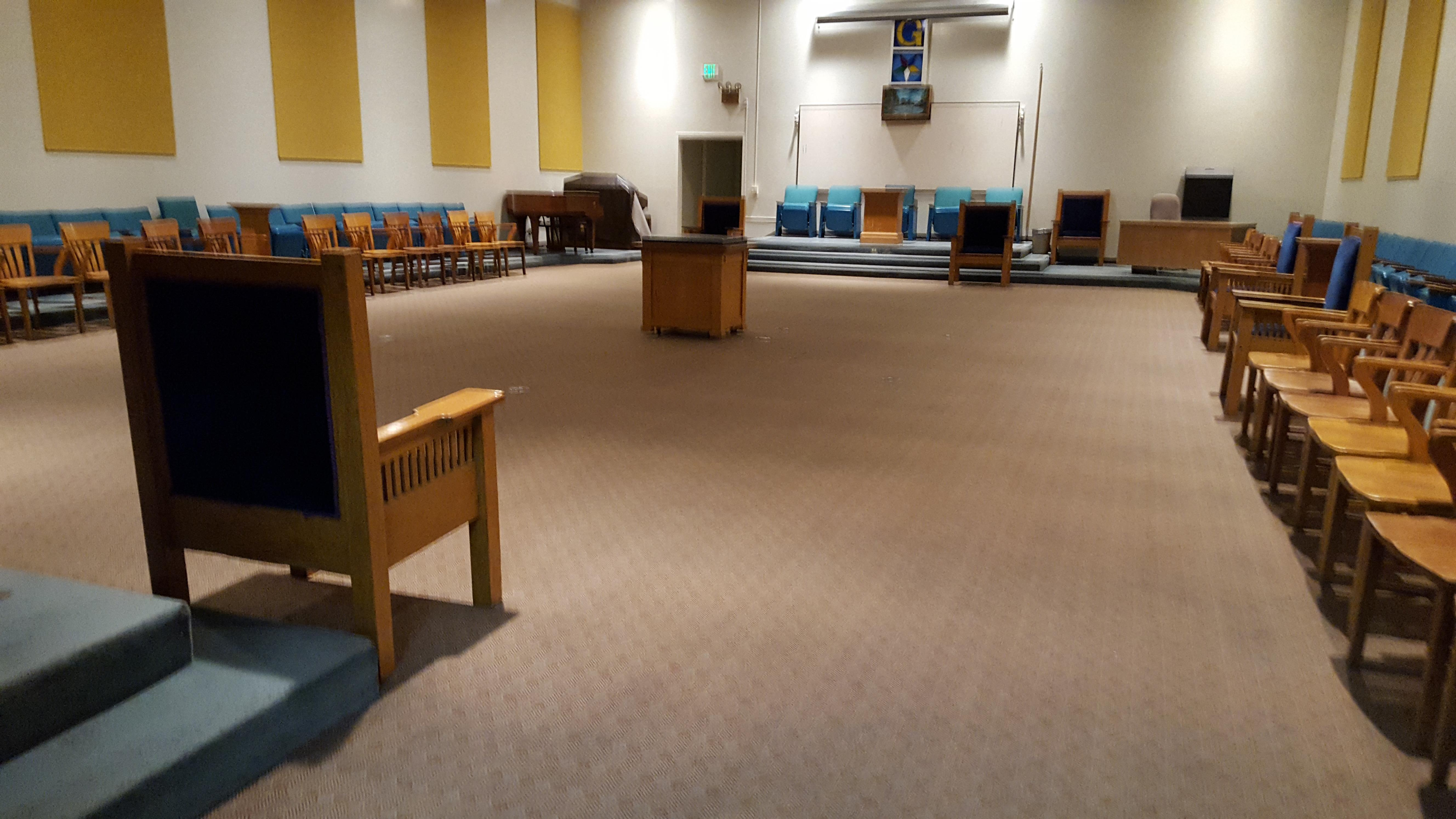 San Jose Masonic Center - Blue Lodge room