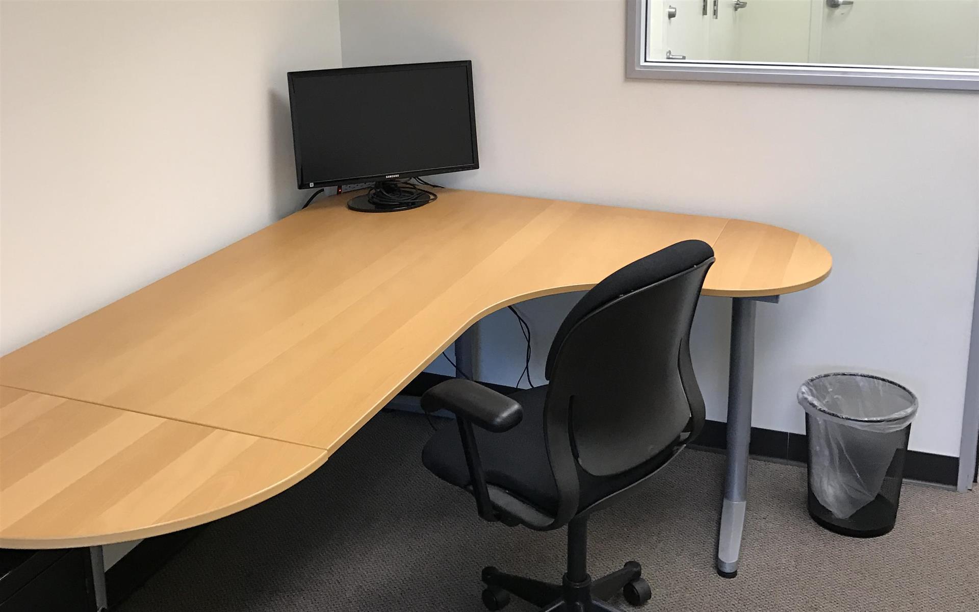 Light Modern Work Space - Desk in Semi-Private Office