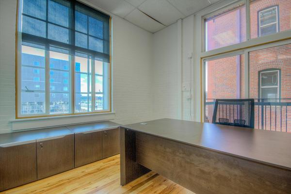 nicheoffice Suites, CoWorking and Desks - Private Office with 2nd Floor Balcony