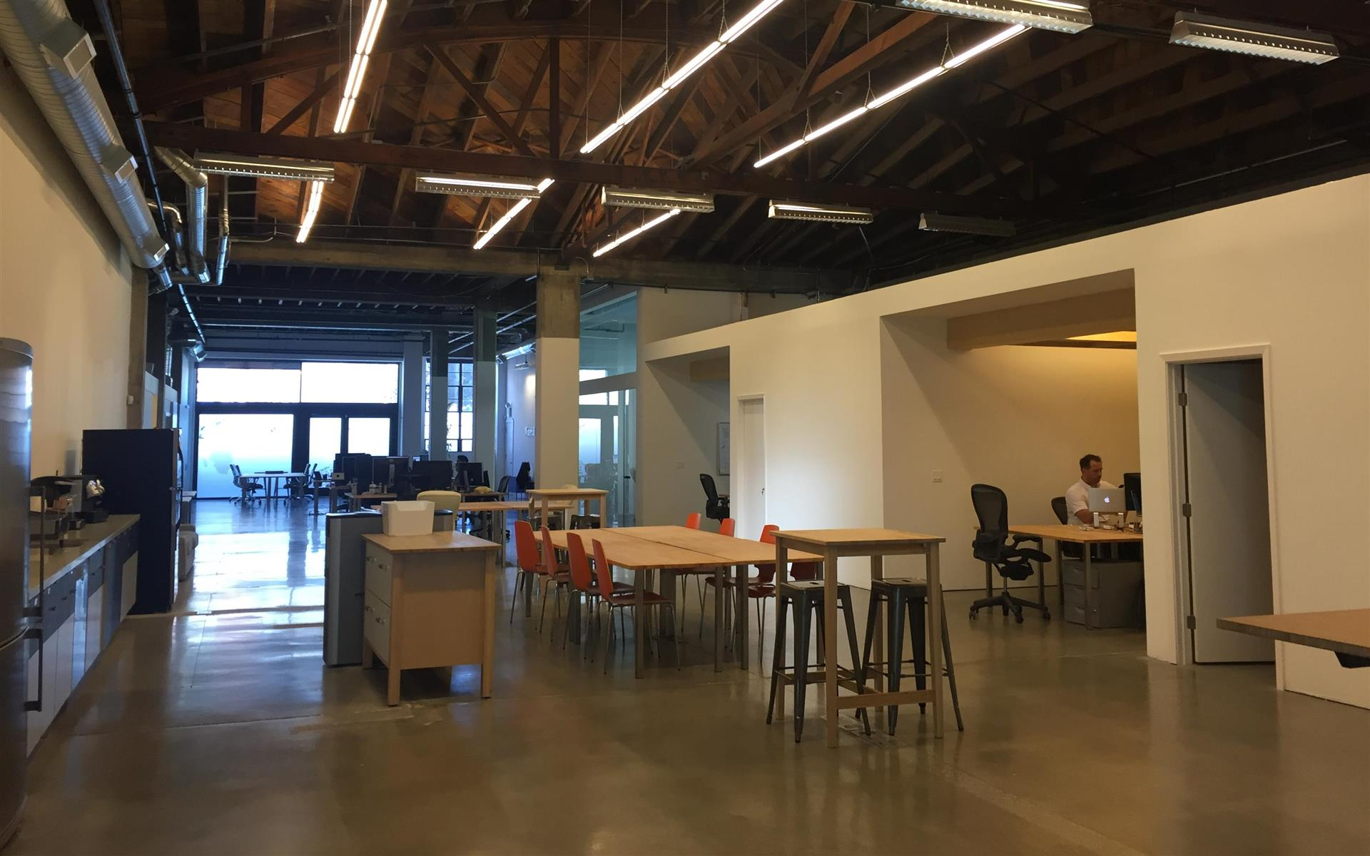 Waterfall International Inc. - Desks in shared, quiet open work space
