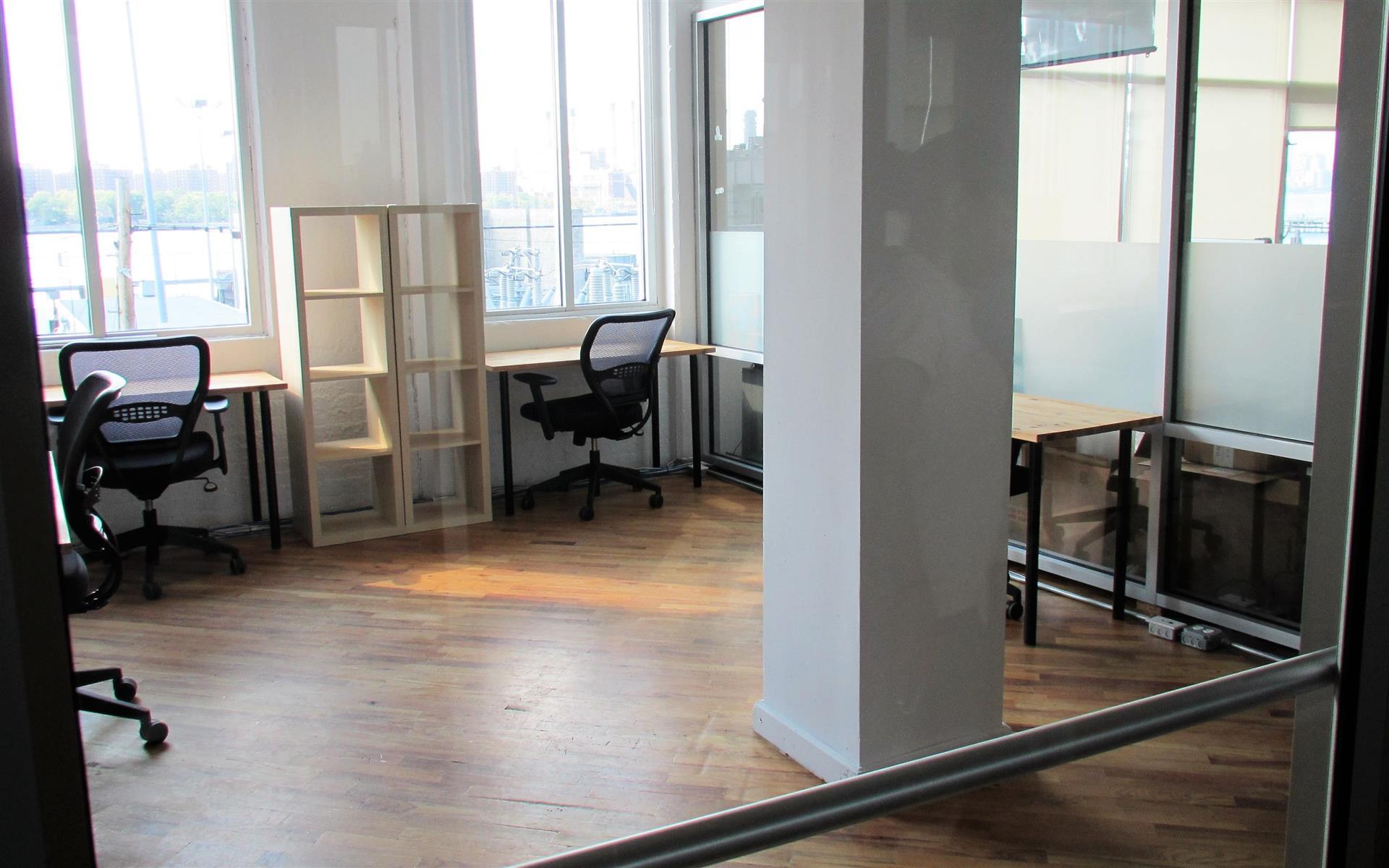 Green Desk - 240 Kent Ave - Spacious 4 Desk Office