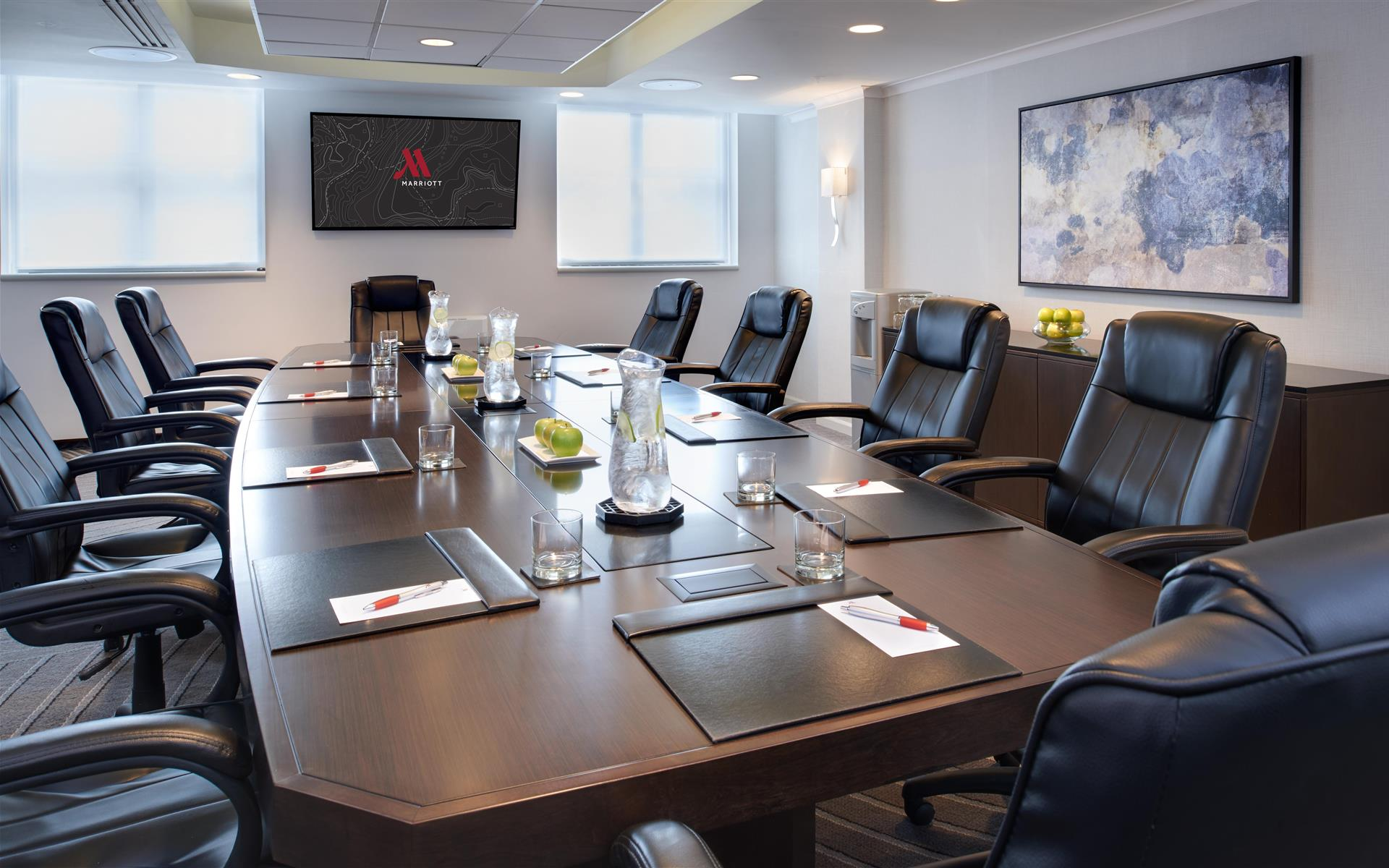 Chicago Marriott Suites O'Hare - Newly Renovated Executive Boardroom