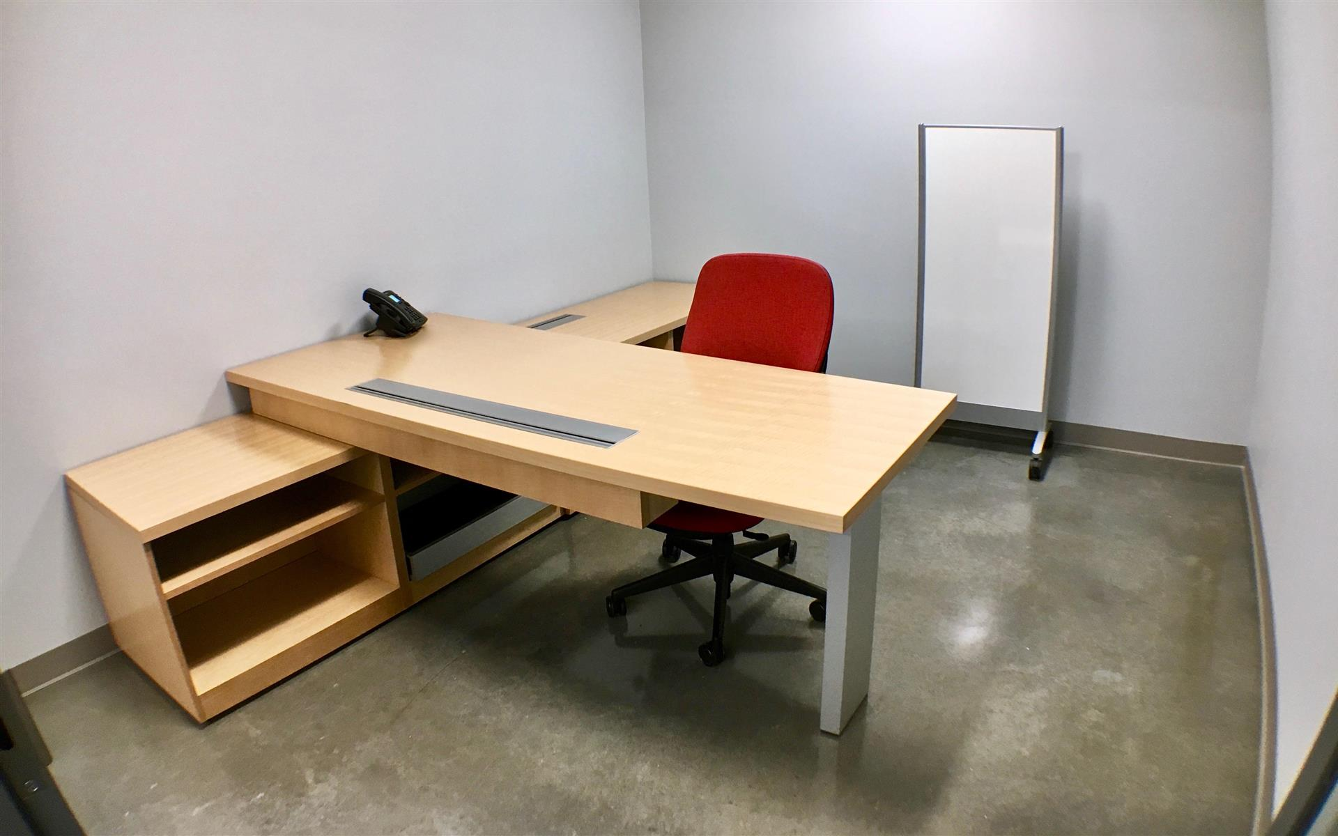 Benjamin's Desk - 30 North 41st Street - Private Office - Executive Red