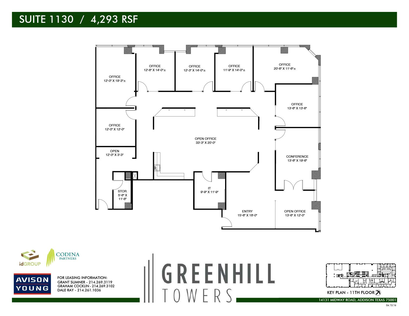 Codina Partners | Greenhill Towers - Suite 1130