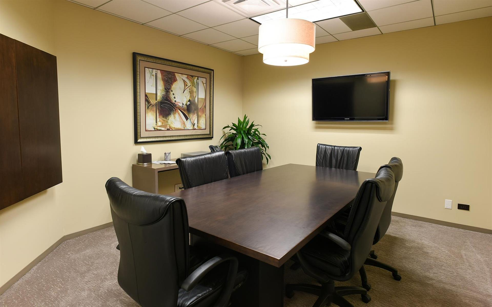 Private meeting room for 6 at my office suite oakbrook for 1 mid america plaza oakbrook terrace il