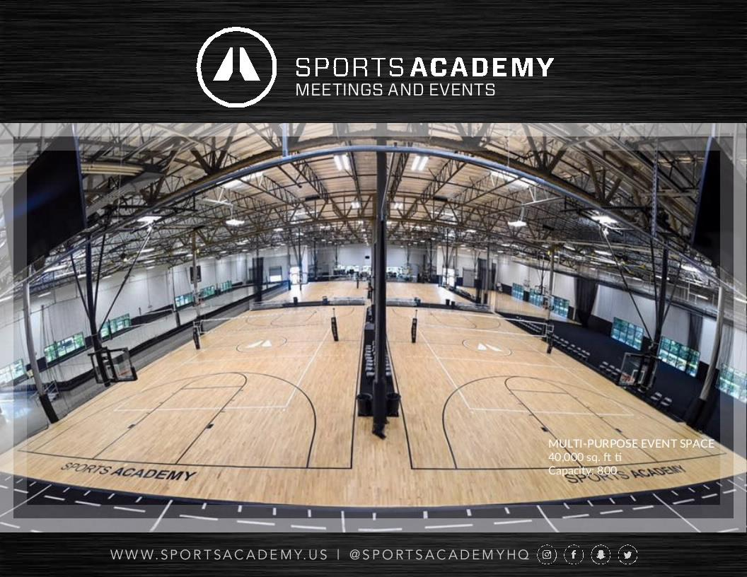 Sports Academy - Event Space 1