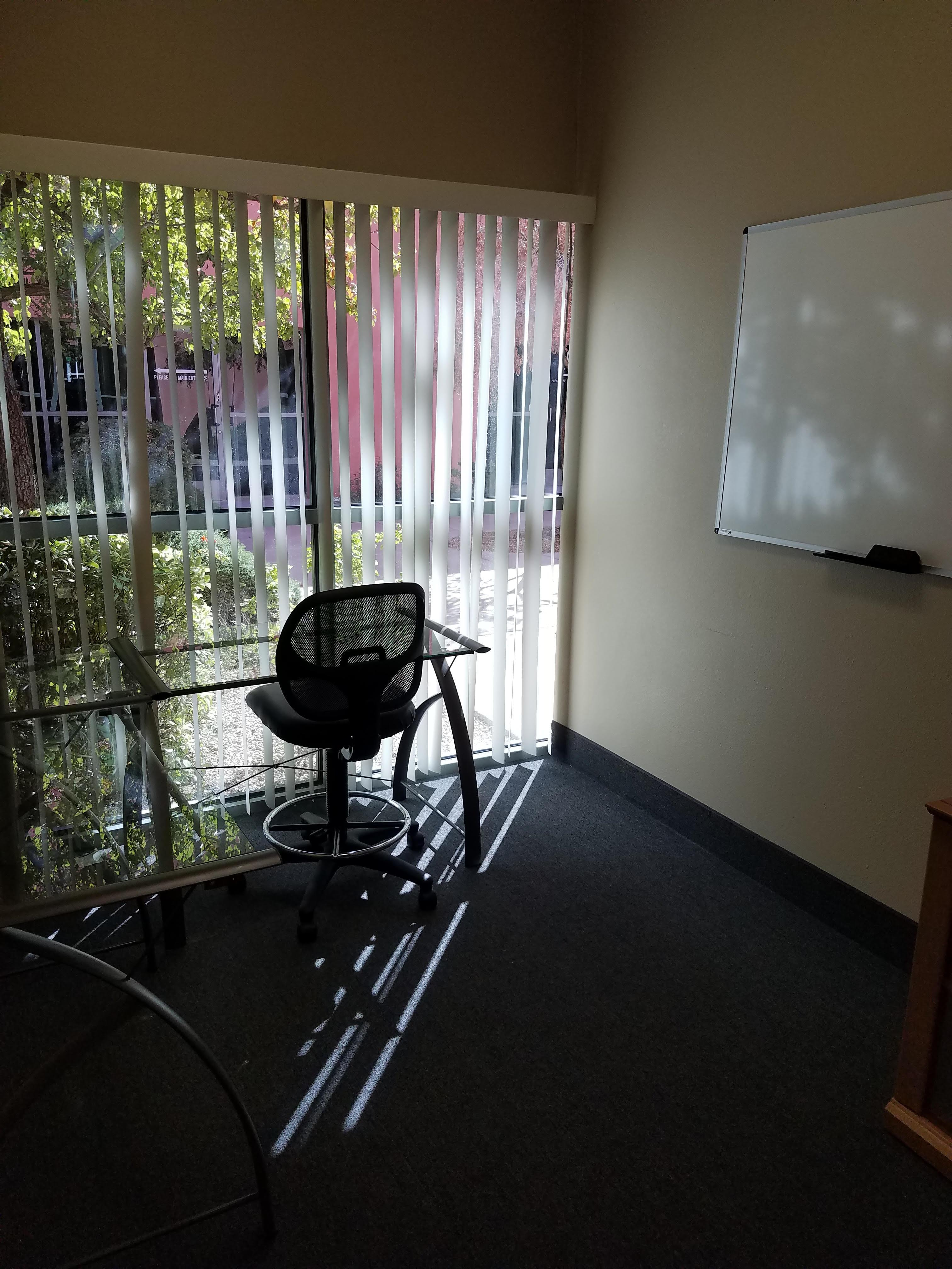 Evus Technologies - Office with Courtyard View