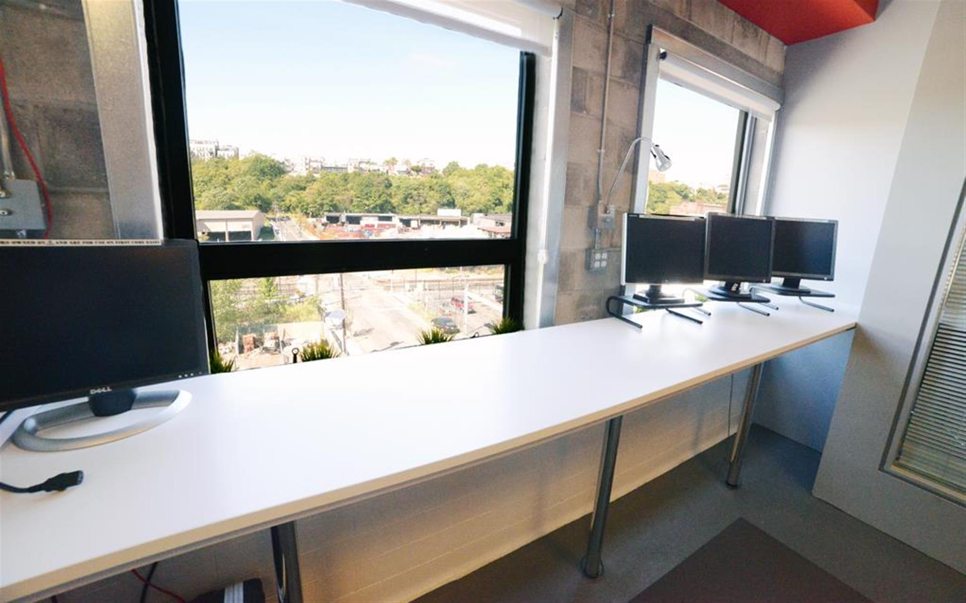 Mission 50 - NJ's Premier Coworking Space - Team Standing Workspace for 3