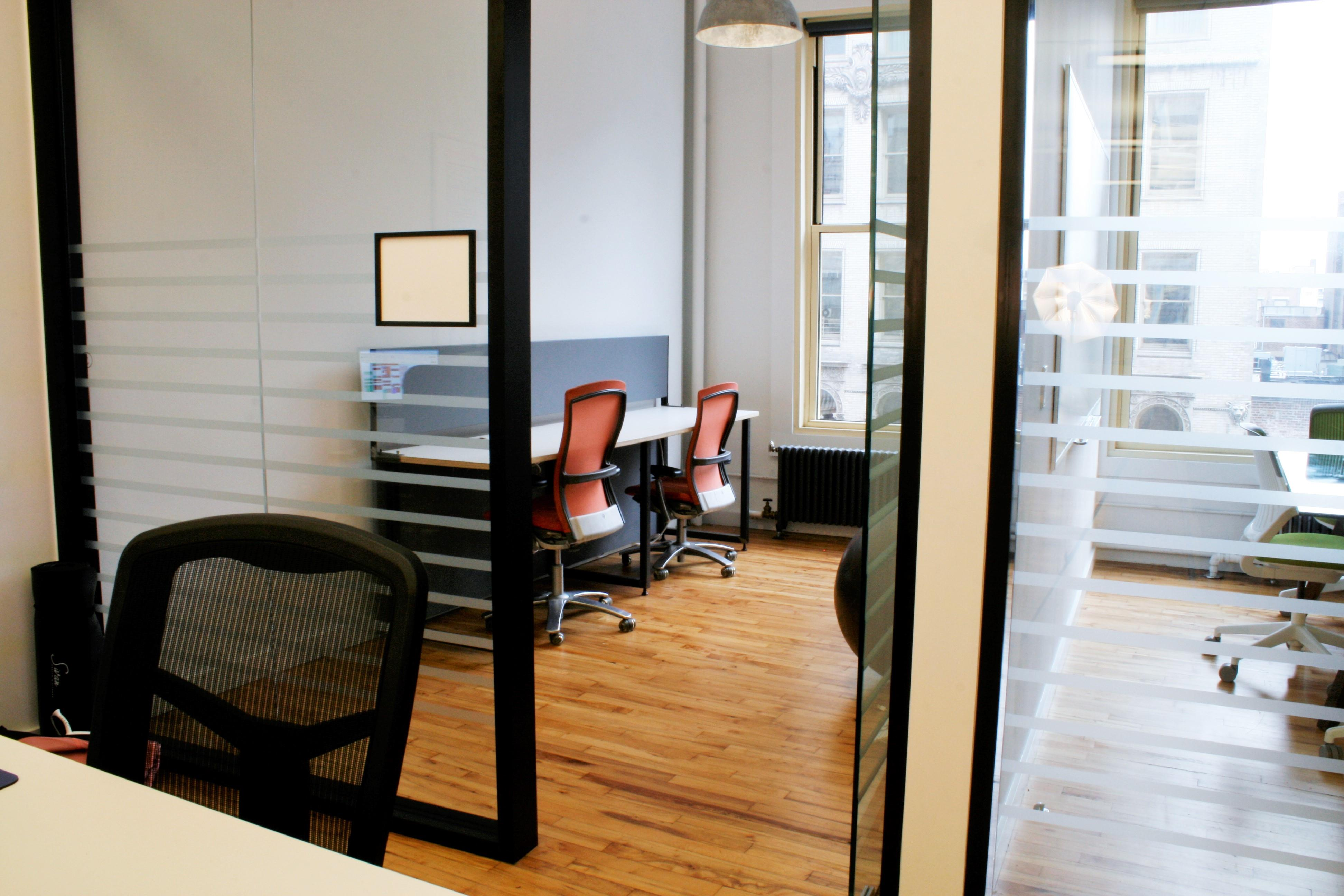 Tidal Labs - Soho private office looking on Broadway
