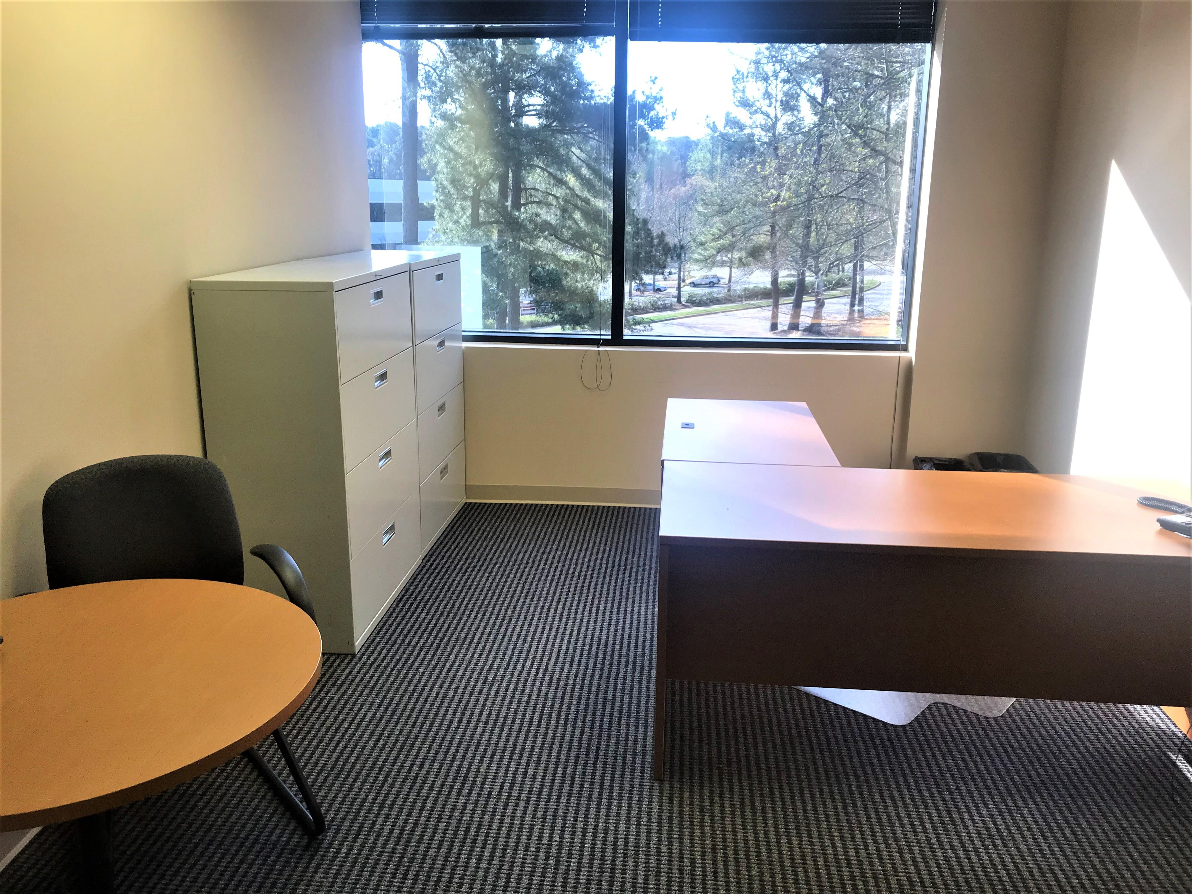 TKO Suites - Raleigh, NC - Private Windowed Office - Natural Light