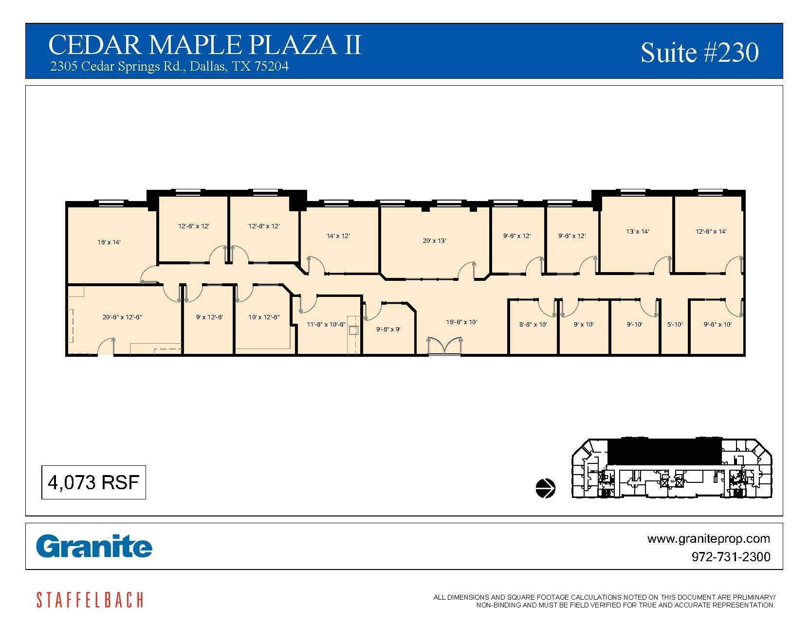 Granite | Cedar Maple Plaza I, II, & III - Cedar Maple Plaza II Suite 230