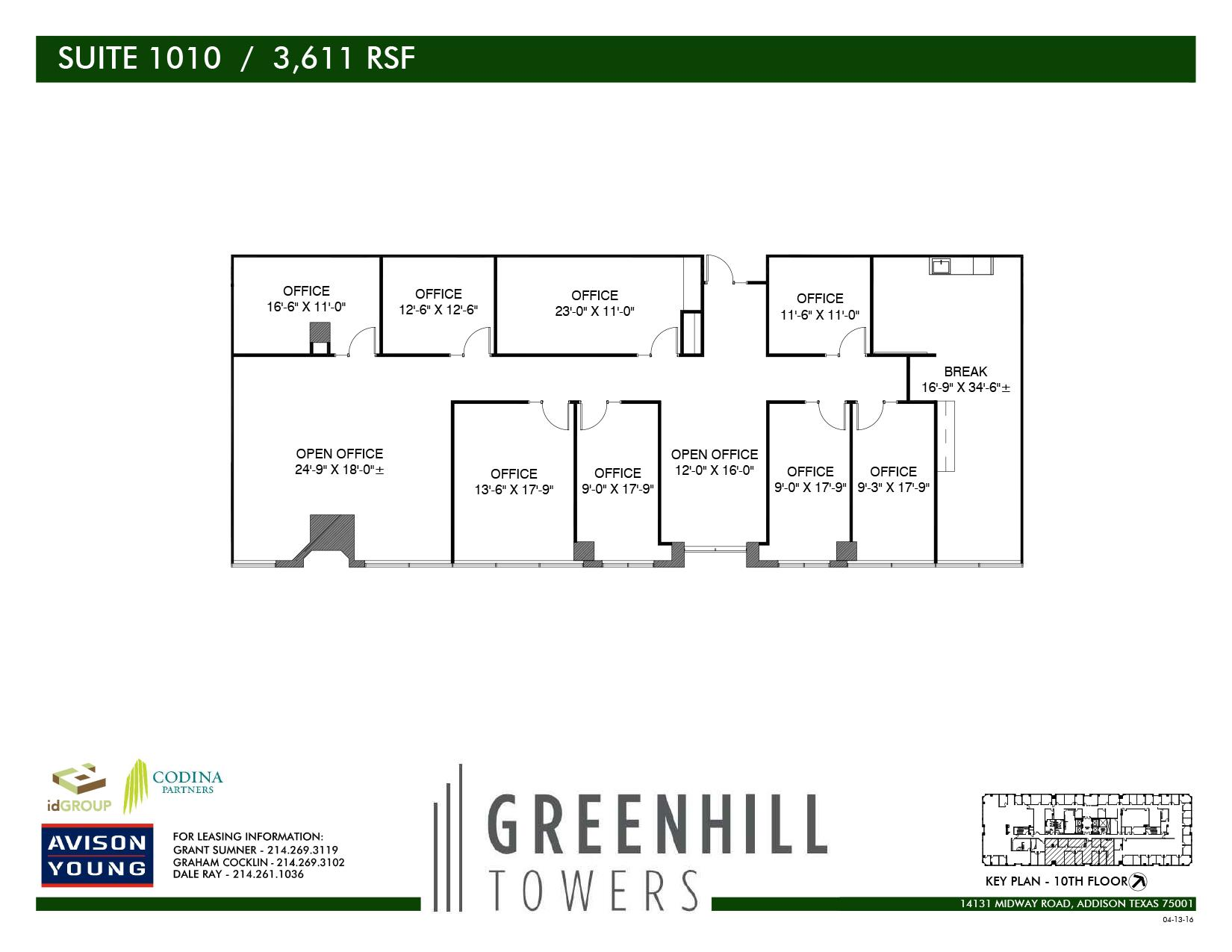 Codina Partners | Greenhill Towers - Suite 1010