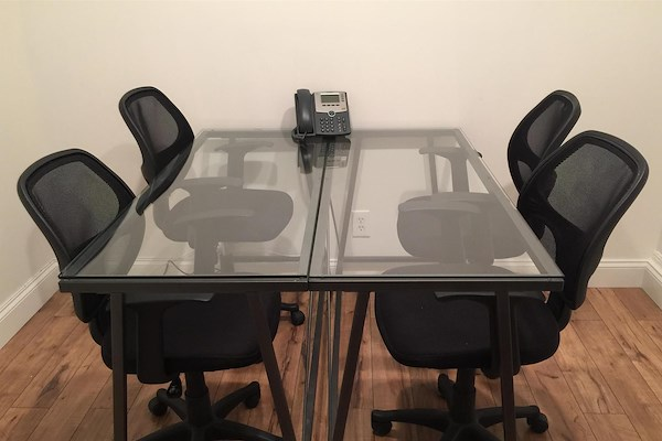 Training Room For At Sage Workspace LiquidSpace - 4 person conference table