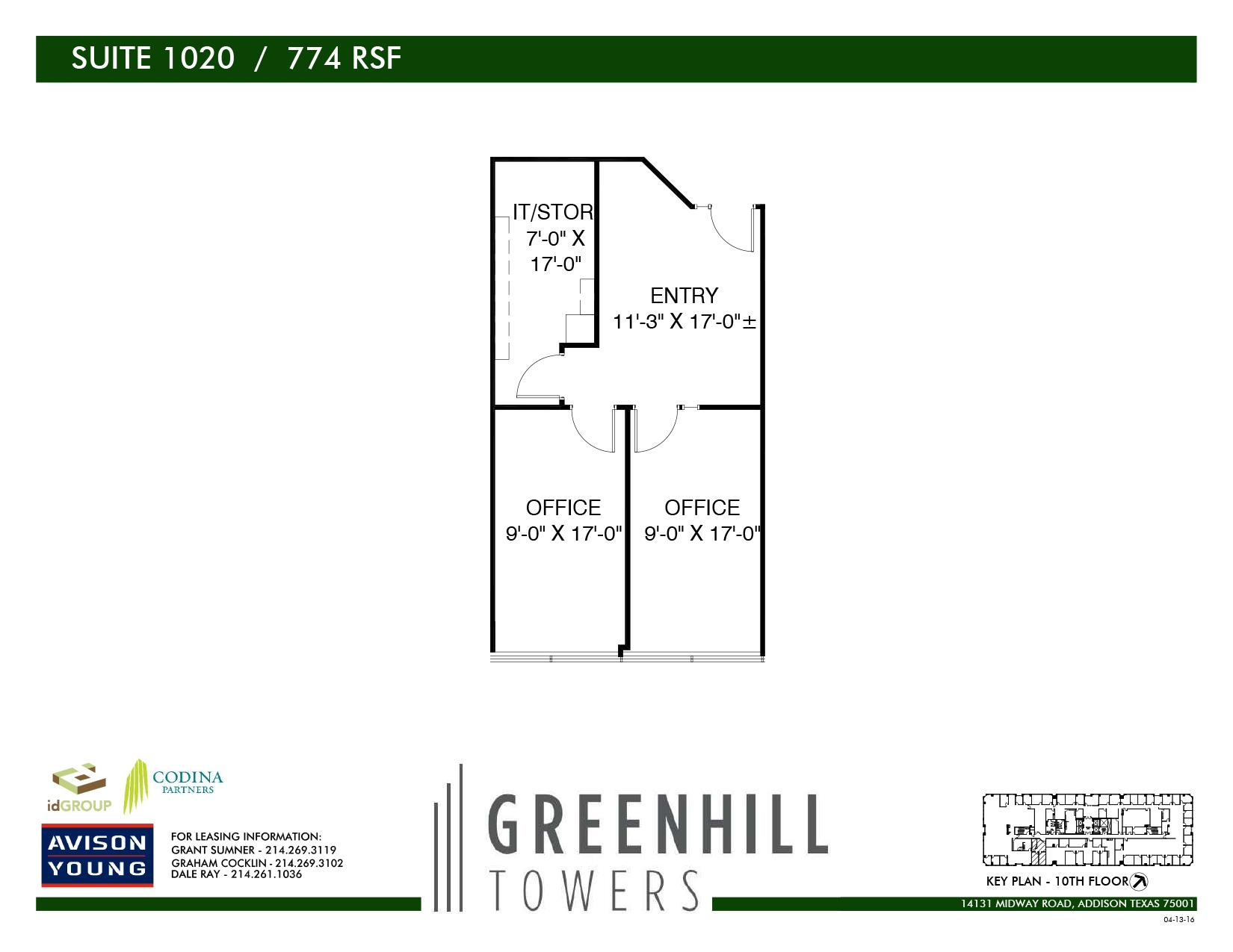 Greenhill Towers | Codina Partners - Suite 1020