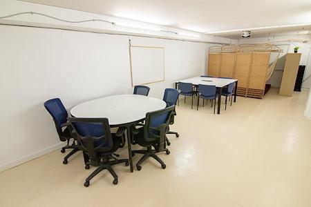 Gastown Basement Coworking Space - A Hidden Gem - Communal Table Desks