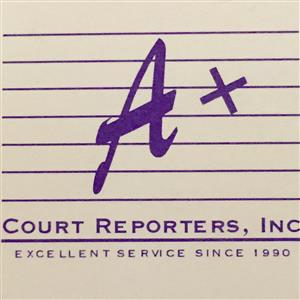 Logo of A+ Court Reporters