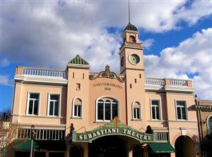 Logo of Sebastiani Theatre Building Workspace