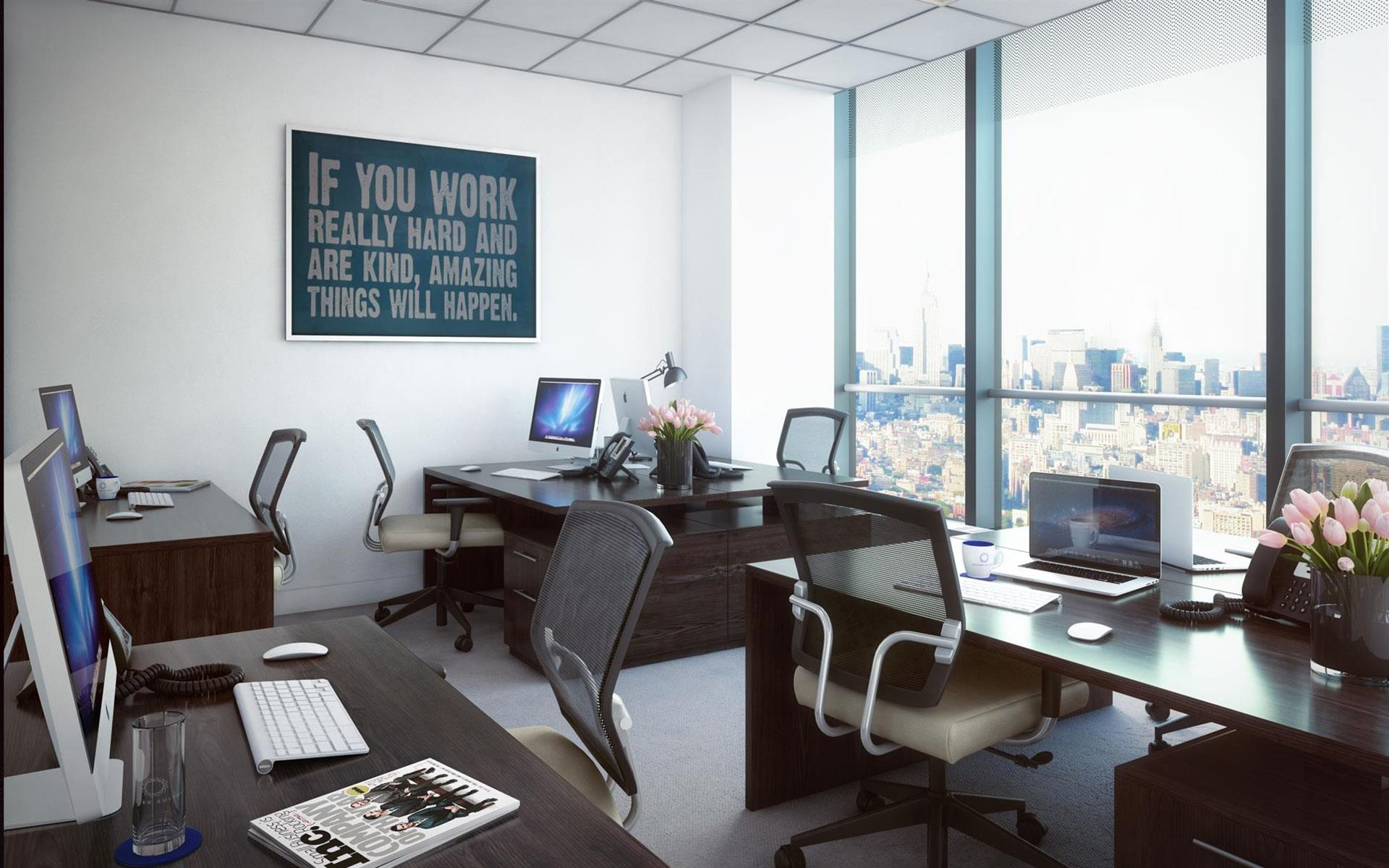 Silver Suites Offices - 7 World Trade Center - 7 WTC - Three Windowed Office