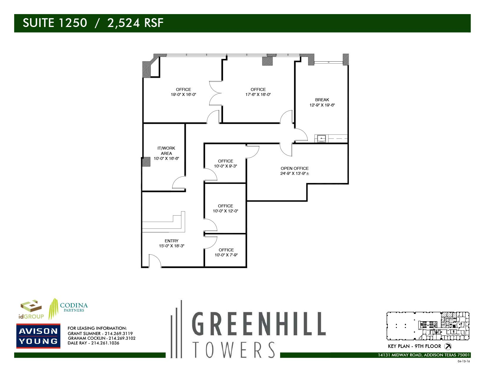 Codina Partners | Greenhill Towers - Suite 1250