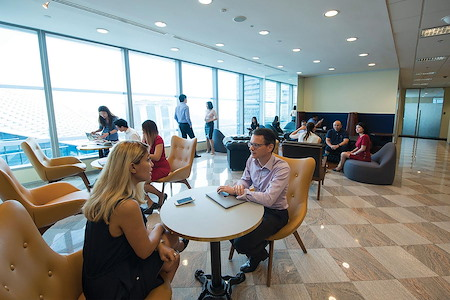 Servcorp - New York 1330 Avenue of The Americas - Dedicated Desk in Co-Working Lounge