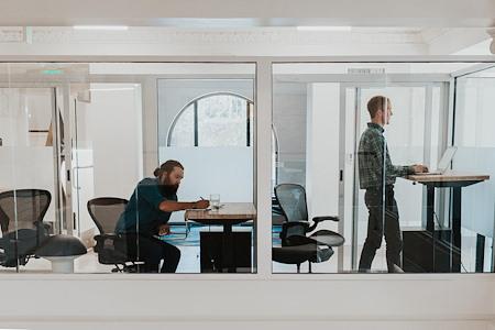 desk chair coworking - Office ( 2 desk suite )