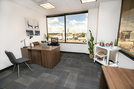 Executive Workspace| Preston Center - Large Window Private Office