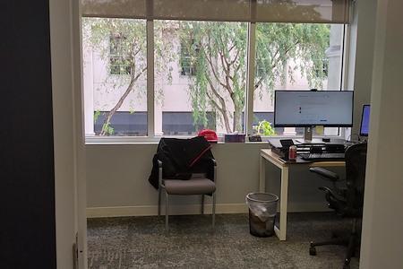 Guzman & Company - Large Private Office with Bay Window facing Aragon Avenue