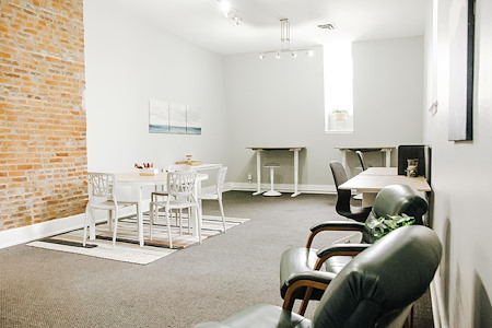 Haven Collective - Mansion - Large team office, with exposed brick