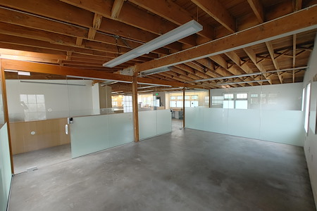 Workstation West Berkeley - Double Modern Glass Private Office