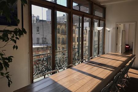 Soho Offsite - Mile Long Picnic Table + White Room