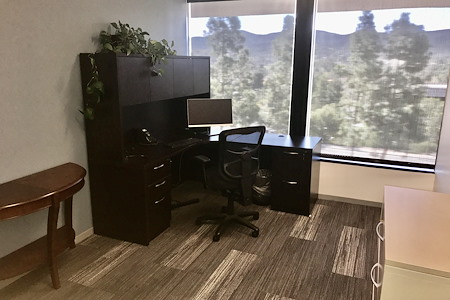 Awesome Modern Industrial Offices & Conference Room - Private Office #1 with Expansive View