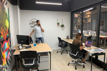 Minds Cowork - Private Suite for team of 5 -corner view