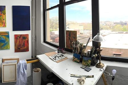 Kunstraum LLC - semi-private, shared studio, loft #402