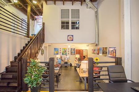 Alkaloid Networks - Team Office #124 w/ original brick walls
