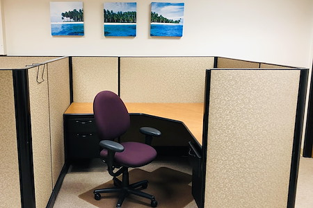 Sona Creative Group. - Open office/cubicle with desk and Wi-Fi