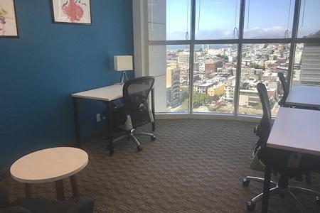 Regus | 580 California - 3 p Window Office - VIEWS!