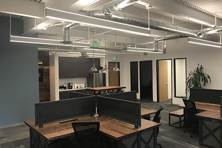 Awesome Modern Industrial Offices & Conference Room - Very Cool Work Space--Desk with Return