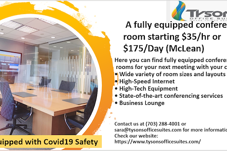 Tysons Office Suites - Great Falls Conference Room